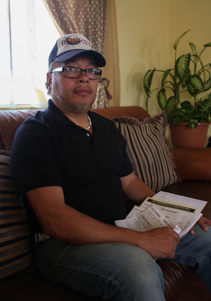 Ricardo Ceja keeps detailed records of his payments. | Daina Beth Solomon